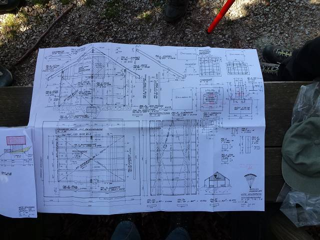 Bauplan Hütte